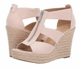 Michael Kors Damita Canvas Wedge Sandals